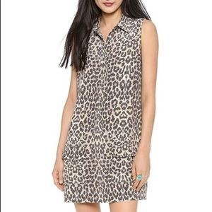 Equipment Lucida Leopard Print Silk Dress p901-1